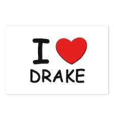I love Drake Postcards (Package of 8)
