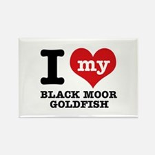 I love my Black Moor Goldfish Rectangle Magnet