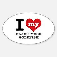 I love my Black Moor Goldfish Decal