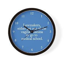 Pro Choice Humor Wall Clock