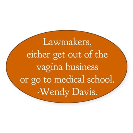 Pro Choice Humor Sticker (Oval)