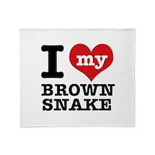 I love my Brown Snake Throw Blanket