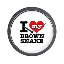 I love my Brown Snake Wall Clock