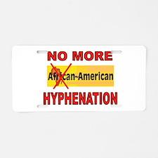 HYPHENATION Aluminum License Plate