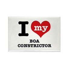 I love my Boa Constrictor Rectangle Magnet