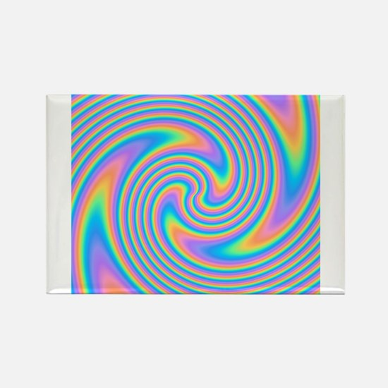 Colorful Swirl Design. Magnets