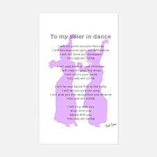 Bellydance Sister Poem Rectangle Decal