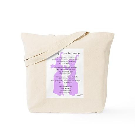 Bellydance Sister Poem Tote Bag