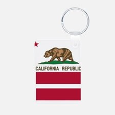California Flag Gay Pride Equal Rights Keychains