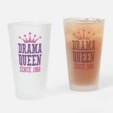 Drama Queen Since 1968 Drinking Glass