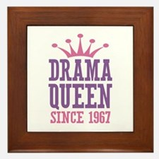 Drama Queen Since 1967 Framed Tile