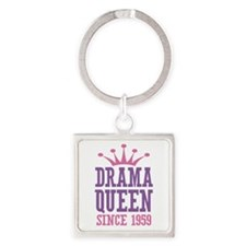 Drama Queen Since 1959 Square Keychain