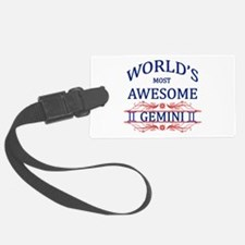 World's Most Awesome Gemini Luggage Tag