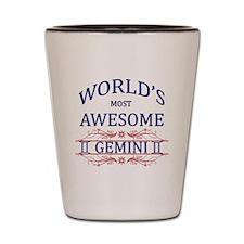 World's Most Awesome Gemini Shot Glass
