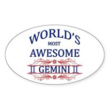 World's Most Awesome Gemini Decal