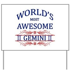 World's Most Awesome Gemini Yard Sign