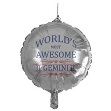 World's Most Awesome Gemini Mylar Balloon