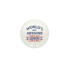 World's Most Awesome Gemini Mini Button (10 pack)