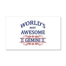 World's Most Awesome Gemini Car Magnet 20 x 12