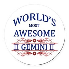 World's Most Awesome Gemini Round Car Magnet