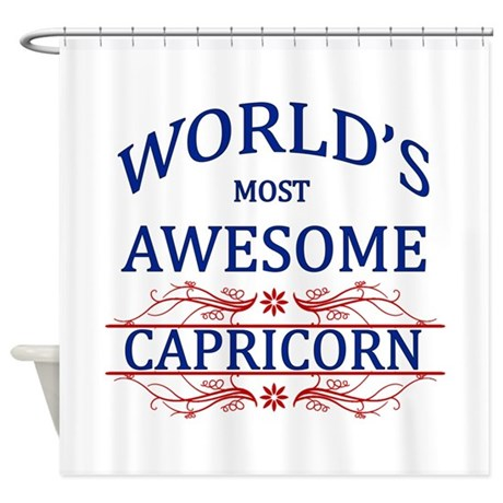 World's Most Awesome Capricorn Shower Curtain