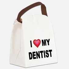 I LOVE MY DENTIST Canvas Lunch Bag