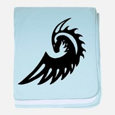 Dragon Black baby blanket