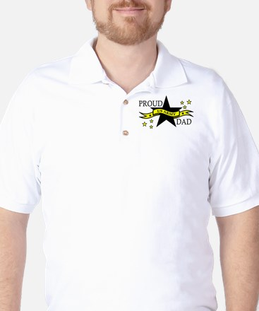 Proud Army Dad with Hero Poem Golf Shirt