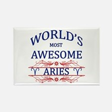 World's Most Awesome Aries Rectangle Magnet