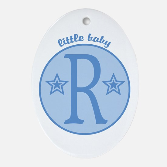 Baby R Oval Ornament