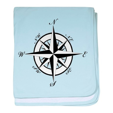 Vintage Compass baby blanket