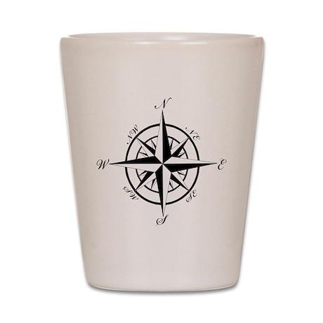 Vintage Compass Shot Glass