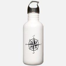 Vintage Compass Water Bottle