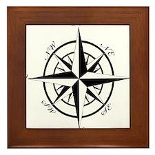 Vintage Compass Framed Tile