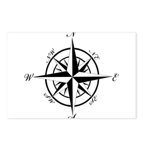 Vintage Compass Postcards (Package of 8)