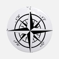 Vintage Compass Ornament (Round)