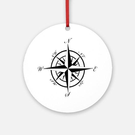 Vintage Compass Ornament (Round)