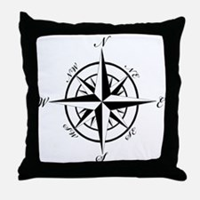 Vintage Compass Throw Pillow