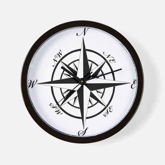 Vintage Compass Wall Clock