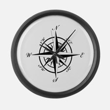 Vintage Compass Large Wall Clock