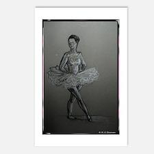 ballerina, ballet dancer, art, Postcards (Package