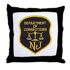 New Jersey Corrections Throw Pillow