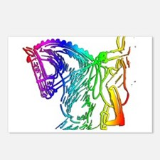 Colorful Dressage Postcards (Package of 8)