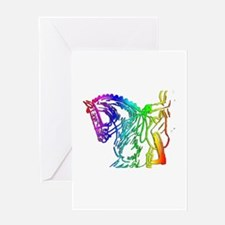 Colorful Dressage Greeting Card