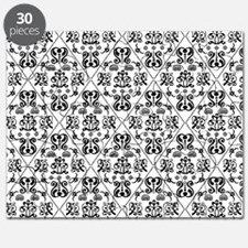 Black & White Damask #24 Puzzle