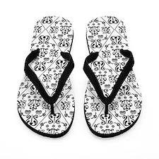 Black & White Damask #24 Flip Flops