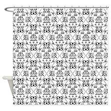 Black & White Damask #24 Shower Curtain
