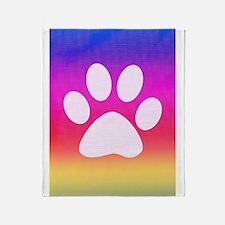 Sail Screen Rainbow Paw Rug Throw Blanket