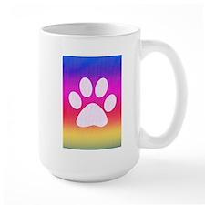 Sail Screen Rainbow Paw Rug Mug