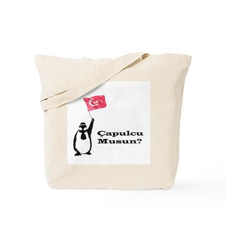 Çapulcu musun? Penguin for Gezi Park Tote Bag